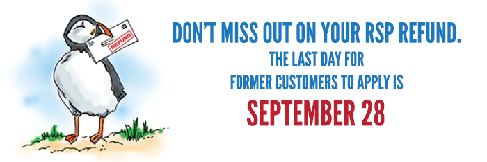 last day for RSP Refund is September 28